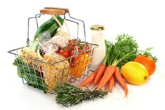 Shopping basket Stock Photography