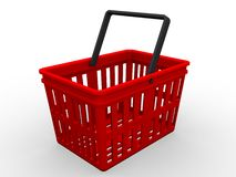 Shopping basket. 3d rendering illustration of a shopping basket Stock Photo
