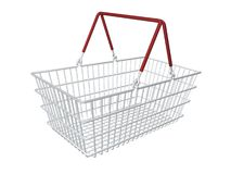 Shopping basket. Rendered shopping basket Stock Photo