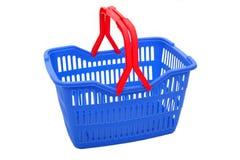 Shopping basket. On white Stock Images