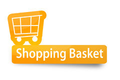 Shopping Basket. A Shopping Basket icon made in photoshop. It can be used as a icon on websites or e-stores Stock Images
