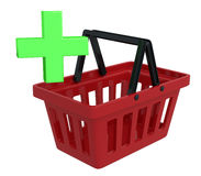 Shopping Basket With Add Symbol Stock Photo