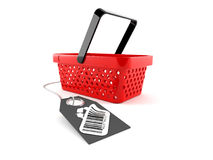 Shopping basket with barcode Royalty Free Stock Image