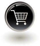Shopping basket button Stock Photography