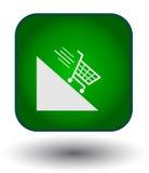Shopping basket button Royalty Free Stock Photo