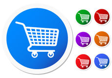 Shopping basket buttons Royalty Free Stock Photo