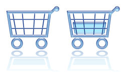 Shopping basket, cart button Stock Images