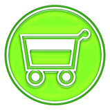 Shopping basket, cart button Royalty Free Stock Image