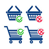 Shopping basket and cart icons Royalty Free Stock Photo