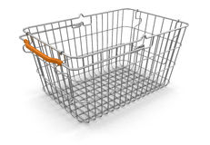 Shopping Basket (clipping path included) Royalty Free Stock Photo