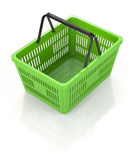 Shopping Basket. Digitally Generated Image.  On White. Three Dimensional Rendering Stock Photos