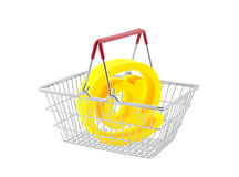 Shopping basket with email symbol Stock Image