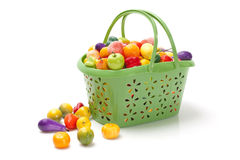 Shopping basket with fresh fruit Royalty Free Stock Photography