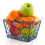 Shopping basket with fruit Stock Photography
