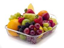 Shopping basket of fruit royalty free stock photography
