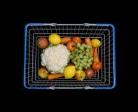 Shopping basket fruit and veg Royalty Free Stock Photography