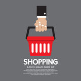 Shopping Basket in Hand Royalty Free Stock Photo