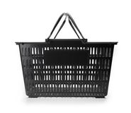 Shopping basket with handle raised. Stock Image