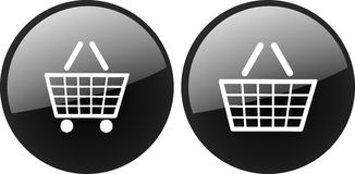 Shopping basket icon Royalty Free Stock Photos