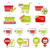 Shopping basket icon Stock Image