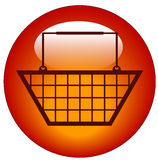 Shopping basket icon Royalty Free Stock Images