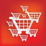 Shopping basket icon Royalty Free Stock Photos