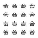 Shopping basket icon set, vector eps10 Stock Photo