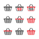 Shopping Basket Icon Set. Vector Stock Photos