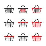 Shopping Basket Icon Set. Vector Stock Photos