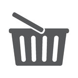 Shopping basket icon. Vector illustration. Shopping basket icon .Flat dark gray vector illustration EPS 10 Royalty Free Stock Photos