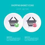 Shopping basket icons Royalty Free Stock Image