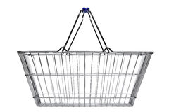 Shopping basket isolated on white stock image
