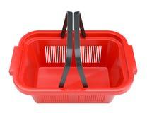 Shopping basket isolated on white background Royalty Free Stock Images