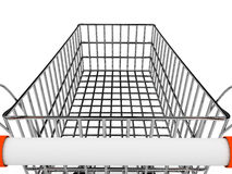 Shopping basket over white background Stock Photo