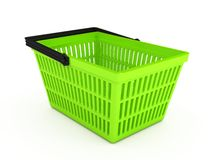 Shopping basket over white background Royalty Free Stock Images