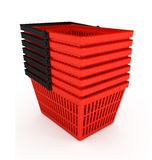 Shopping basket over white background Royalty Free Stock Images