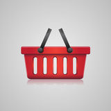 Shopping basket red Royalty Free Stock Photos