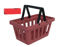 Shopping Basket With Remove Symbol Royalty Free Stock Photography
