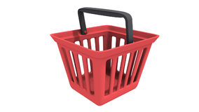 Shopping basket rotate Stock Photography