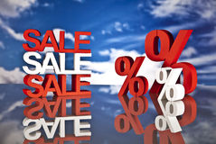 Shopping basket, sales and money. Big sales and attractive promotions Stock Photos