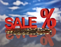 Shopping basket, sales and money. Big sales and attractive promotions Royalty Free Stock Photos