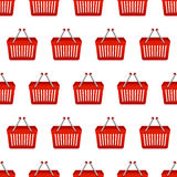 Shopping basket seamless pattern Royalty Free Stock Photography