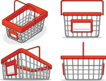 Shopping Basket from Several Positions Stock Photo
