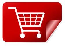 Shopping basket sign Stock Image