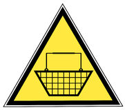Shopping basket sign Stock Photography