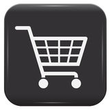 Shopping basket sign Royalty Free Stock Photography