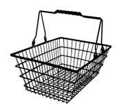 A shopping basket silhouette vector Royalty Free Stock Photos