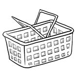Shopping basket sketch Royalty Free Stock Photo