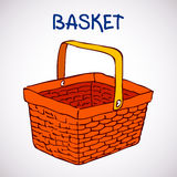 Shopping basket sketch icon Stock Photography