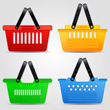 Shopping basket vector set Stock Photos